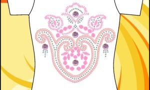 Шаблон принта с розовыми узорами