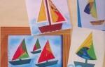 Необычная поздравительная открытка с корабликом своими руками