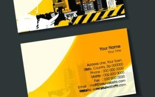 Шаблон визитки строительной компании