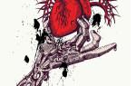 Шаблон принта для футболки «Сердце в руке»