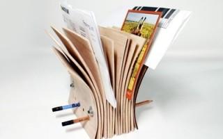 Подставка для корреспонденции и ручек из фанеры своими руками