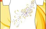 Бесплатный макет принта с рисунком из пайеток
