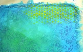 Оригинальный фон для открыток из акриловых красок своими руками