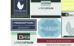 Набор шаблонов визиток