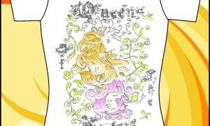 Шаблон принта «Девушки с цветными волосами»