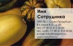Бесплатный макет визитки с тыквами