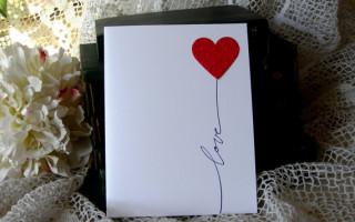 Самая простая открытка своими руками с сердцем на день святого Валентина или просто в знак любви