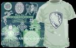 Образцы принтов в серо-зеленых тонах
