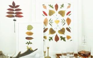 Простая и оригинальная картина из осенних листочков своими руками