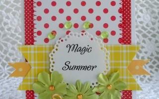 Летняя поздравительная открытка своими руками