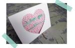 Валентинка с сердцем и надписью I love you своими руками