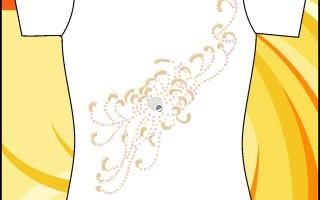 Образец принта с рисунком из пайеток