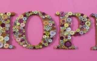 Декоративные буквы для украшения интерьера своими руками