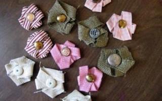 Цветочки из ткани для открыток своими руками