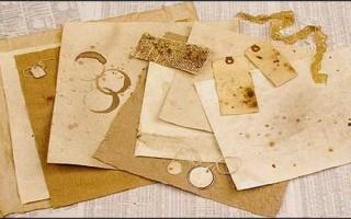 Как состарить бумагу с помощью кофе своими руками