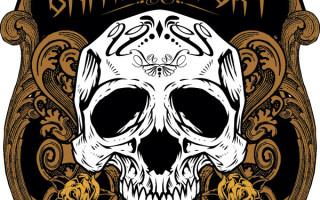 Шаблон принта «Эмблема с черепом»