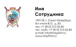 Бесплатный макет визитки «Государство»