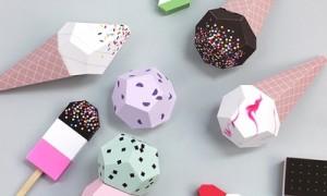 Как сделать яркое игрушечное мороженое из бумаги для детей своими руками + шаблон для печати