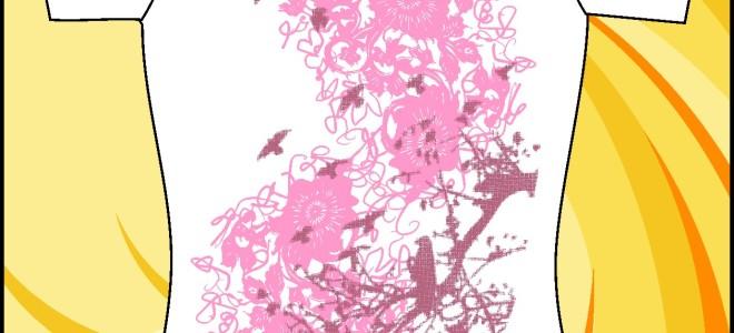 Образец принта «Летящие птицы»