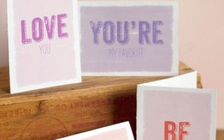 Шаблон для печати открытки С днем Святого Валентина