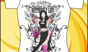 Шаблон принта «Девушка-бабочка»