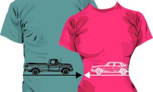 Образец принта на футболки для влюбленных