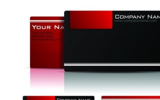 Шаблон визитки для серьезной компании