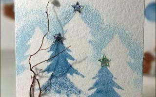 Новогодние открытки своими руками — 50 идей