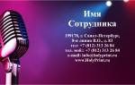 Макет визитки для организаторов концертов