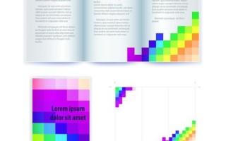 Образец буклета в eps с цветными квадратами