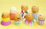 Простой мастер-класс как сделать подставки для пасхальных яиц из бумаги своими руками + шаблоны для скачикания