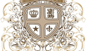 Образец принта для футболки «Щит с орнаментом»