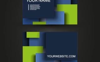 Шаблон визитки со стикерами