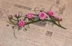 Веточка дикой розы с шаблонами для украшения открытки своими руками