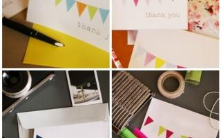 Благодарственная открытка с шаблоном для печати своими руками