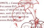 Бесплатный макет визитки с красными цветками