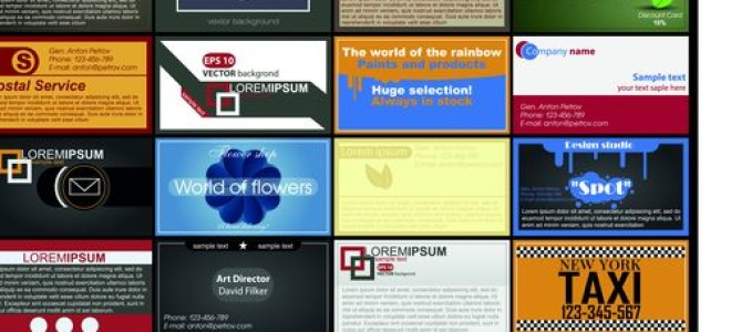 Образцы визиток для такси и транспортных компаний