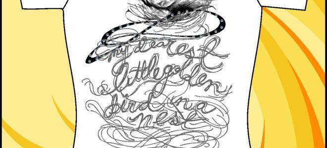 Образец принта «Птичка в гнезде»