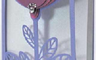 Как сделать к 8 марта своими руками кружевную открытку