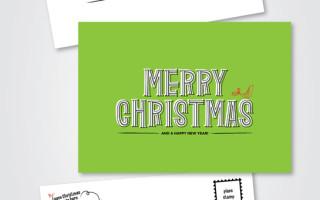 Два шаблона открыток своими руками к рождеству