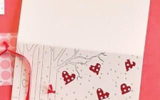 Валентинка своими руками с лисичкой и сердечками