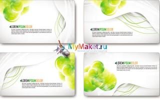Бесплатный шаблон визиток для творческих личностей