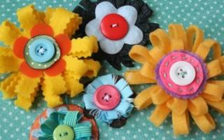 Как сделать оригинальные цветы из ткани для открытки своими руками