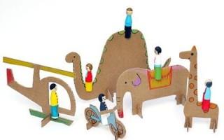 Простые картонные игрушки для детей своими руками + бесплатные шаблоны для вырезания