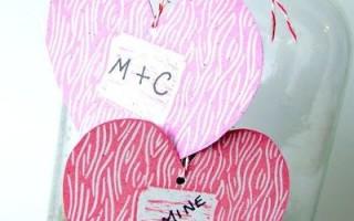 Штамп в виде сердца для открыток своими руками + шаблон