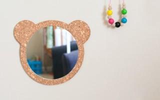Мастер класс как сделать детское зеркало «Винни Пух» своими руками + шаблон для вырезания