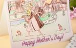 Открытка-раскраска для мамы своими руками