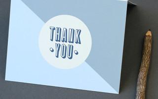 Открытка «Спасибо» с шаблоном для печати своими руками