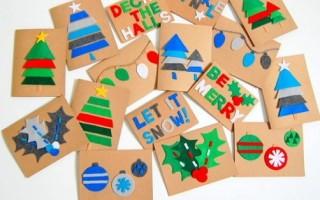 Новогодние открытки своими руками (пошаговые фото)