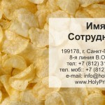 Макет визитки с чипсами